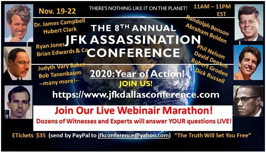 The 8th Annual JFK ASSASSINATION CONFERENCE - DALLAS 2020